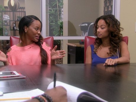Draya introduces Malaysia to some management to get her name out there.