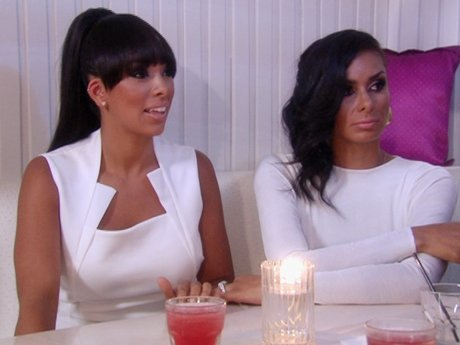 Laura and Gloria are looking fab at the white party.