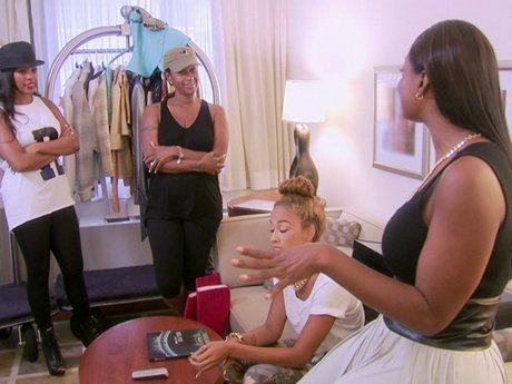 Jackie is in full Project Runway mode.