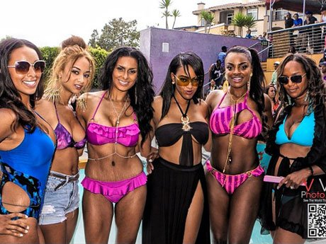 The Cast of Basketball Wives LA Make a Splash