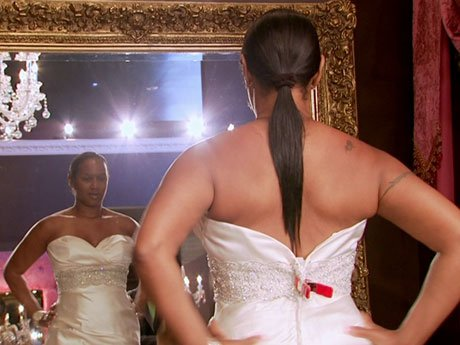Say yes to the dress! Even though Jackie loves this dress, Wade doesn't think it's appropriate for her 16th wedding.