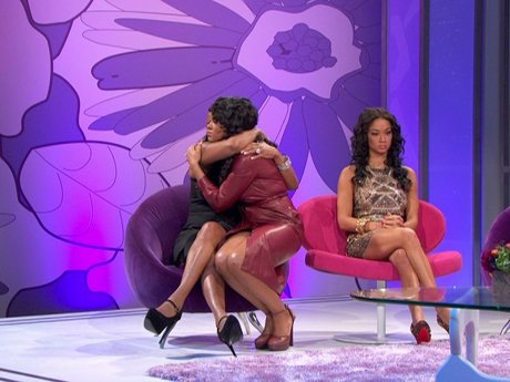 Malaysia comforts Jackie when she gets teary-eyed over her mother.