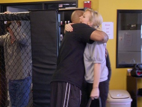 Erika gets a work out and throws some punches - is she preparing for a fight in Turks and Caicos?
