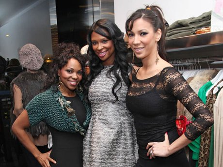 NEW YORK, NY - NOVEMBER 15: (L-R) Kenya Bell, Jennifer Williams and Suzie Ketcham of Basketball Wives attend the LUCID Lipgloss shopping event at Big Drop NYC on November 15, 2011 in New York City.
