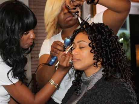 Tami gets hair and makeup.