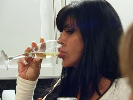 Big Ang gets the housewarming party started.