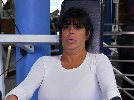 Big Ang tries to work out.