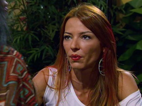 Drita checks in with Big Ang at the Drunken Monkey.