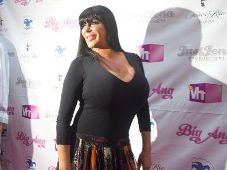 Big Ang on the pink carpet [Photo: VH1]