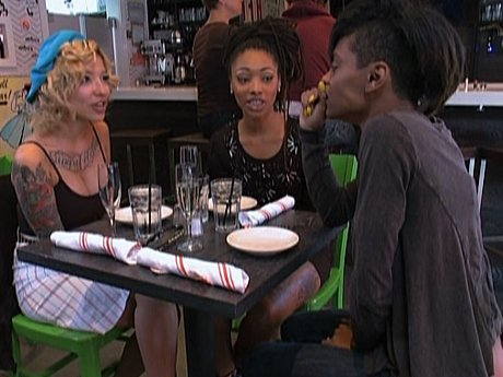 The girls speculate on the baby's father.