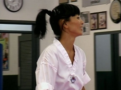 Bai Ling is training in martial arts for her next movie role.