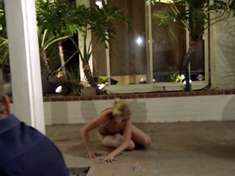 Alex storms off from the pool only to slip and fall. Ouch.