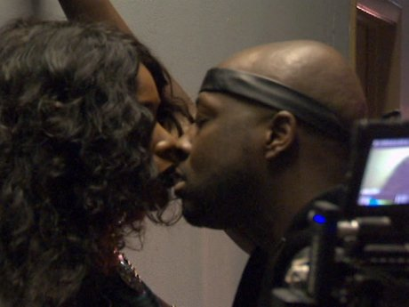 Wyclef Jean and K.Foxx get steamy shooting his new music video.