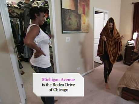 Corrie helps Vicki clean out her closet.