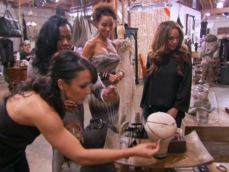 Nicole wows the ladies with her beautiful jewelery line.