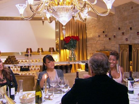 The ladies dine with Jean-Charles and live the good life.