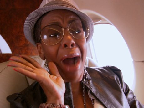 Drea just might be afraid of flying.