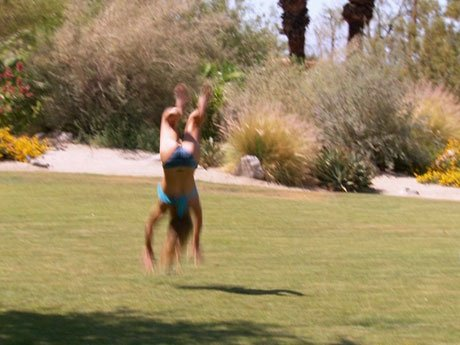Jessica is literally doing back flips over her vacation!