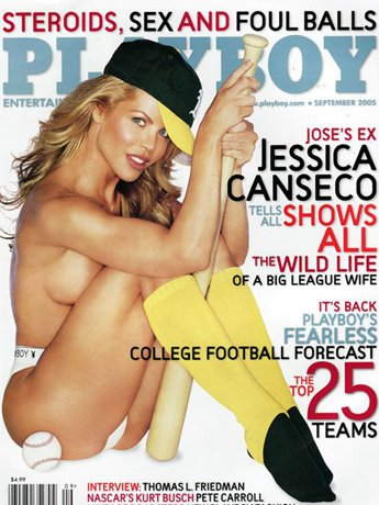 Jessica Canseco on the cover of Playboy's September 2005 issue. [Photo: NYPost/Playboy]