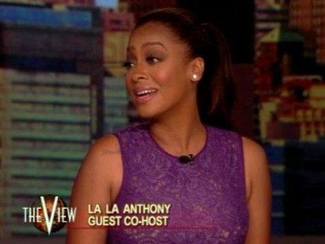 La La guest hosts The View.