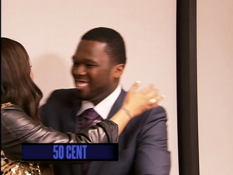 La La meets up with old friend 50 Cent.