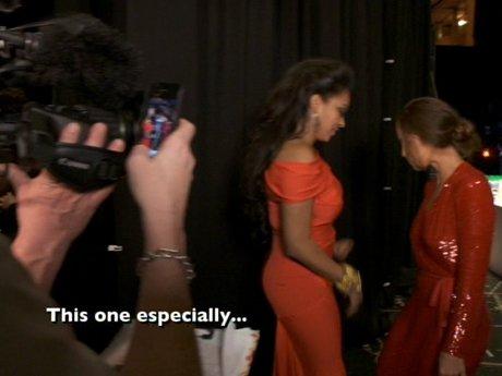 Minka Kelly preps La La for the show.
