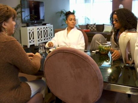 Baby Talk: La La seeks advice from her mother and Kelly Rowland.
