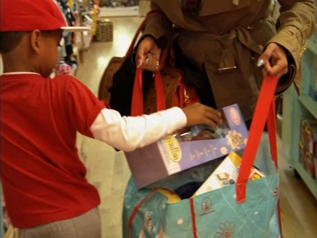 Kiyan goes shopping for underprivileged children.