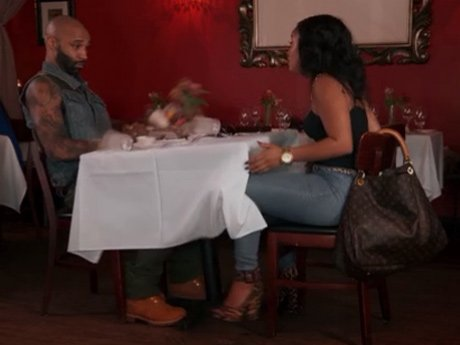Tahiry shakes the table after she gets into an argument with Joe.