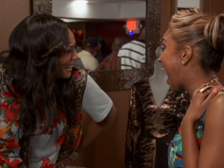 Yandy and Olivia laugh off Erica's rebuttals.