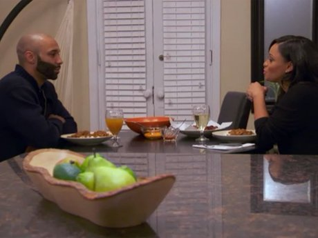 Tahiry cooks Joe dinner in celebration of his sobriety.