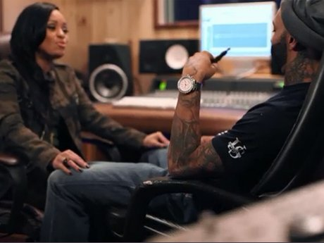 Tahiry plays her song for Joe, which was inspired by him.