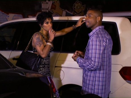 Joseline gives Stevie J a piece of mind.