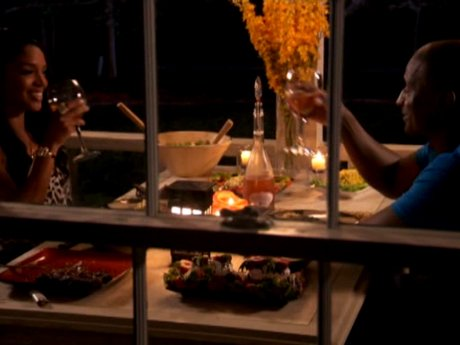 Rasheeda and Kirk have a romantic dinner for two.