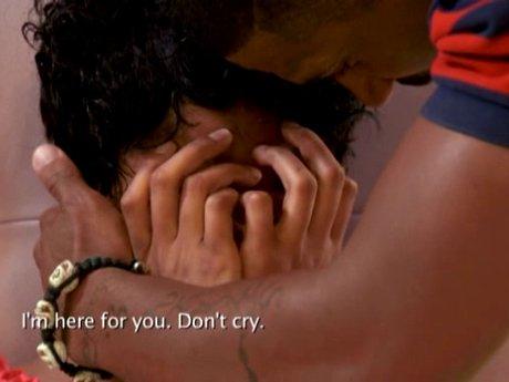 Joseline breaks down in front of Stevie J.