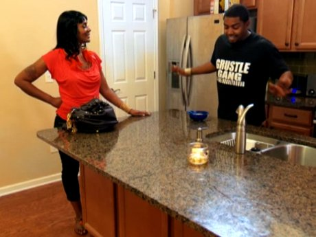Momma Dee sees Lil' Scrappy's new place.