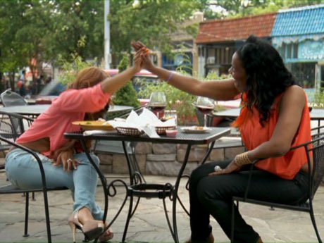 Shay scores some points with Momma Dee.