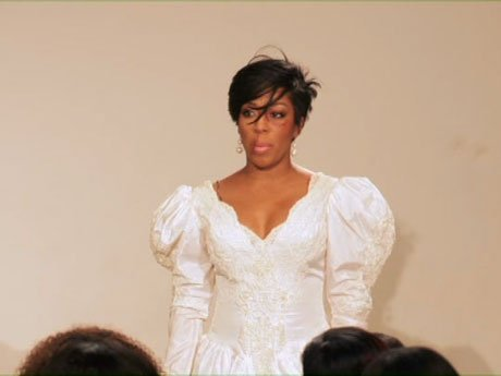 K.Michelle does a performance piece for Save Our Daughters.
