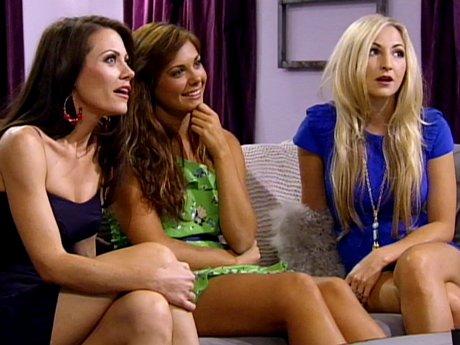 The girls watch in shock as the guys grow suspicious of their true intentions.