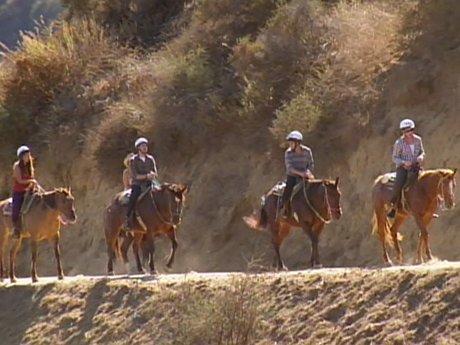 Lindsay and her group prefer horseback riding.