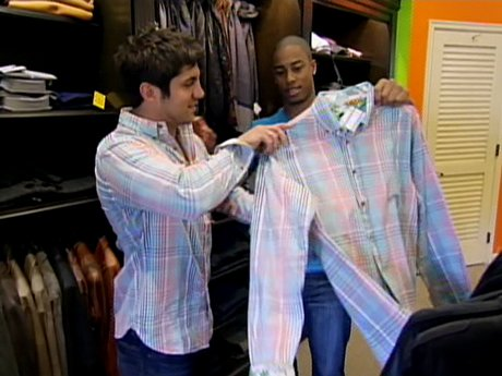 Ryan and Arwin have an awkward clothing moment.