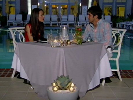 Ryan charms his date at the cabana.
