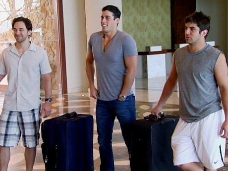 The guys arrive.