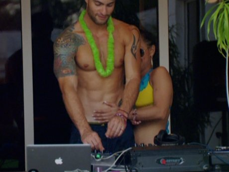 After a few drinks, Cristina gets close with Nate at Big Ang's pool party.