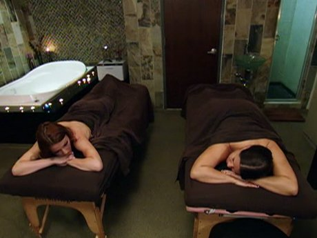 Karen and Drita have an unexpected spa date.