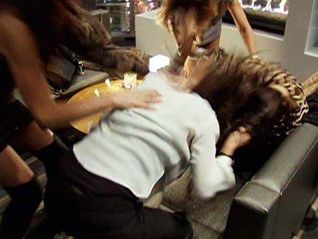 Pia and Christina get a bit too physical