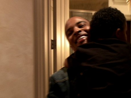 Daddy's home! T.I. surprises everyone.