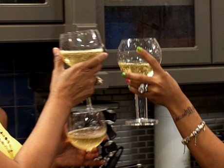Cheers! Tiny and friends get excited for T.I.'s return.