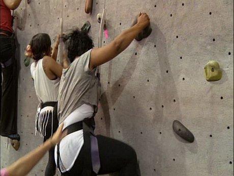 3. Tiny and Shekinah go rock climbing