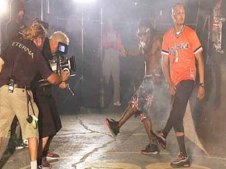 "T.I. films the music video for his new single ""Ball""."